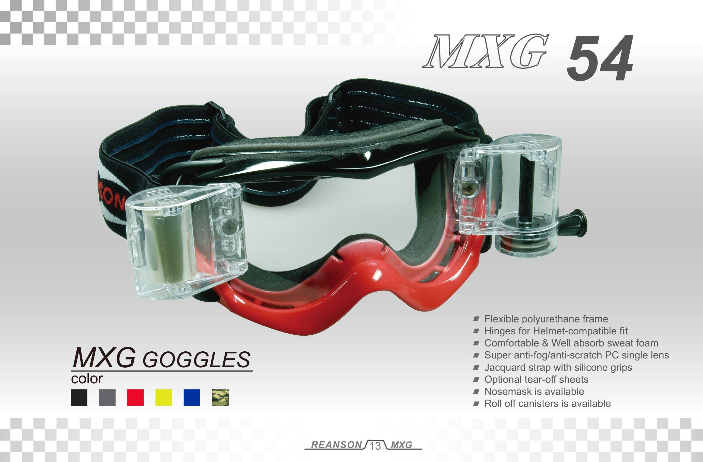 motocross racing goggles on sale-MXG54